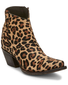 Tony Lama Women's Anahi Wildcat Fashion Booties - Snip Toe, Leopard, hi-res