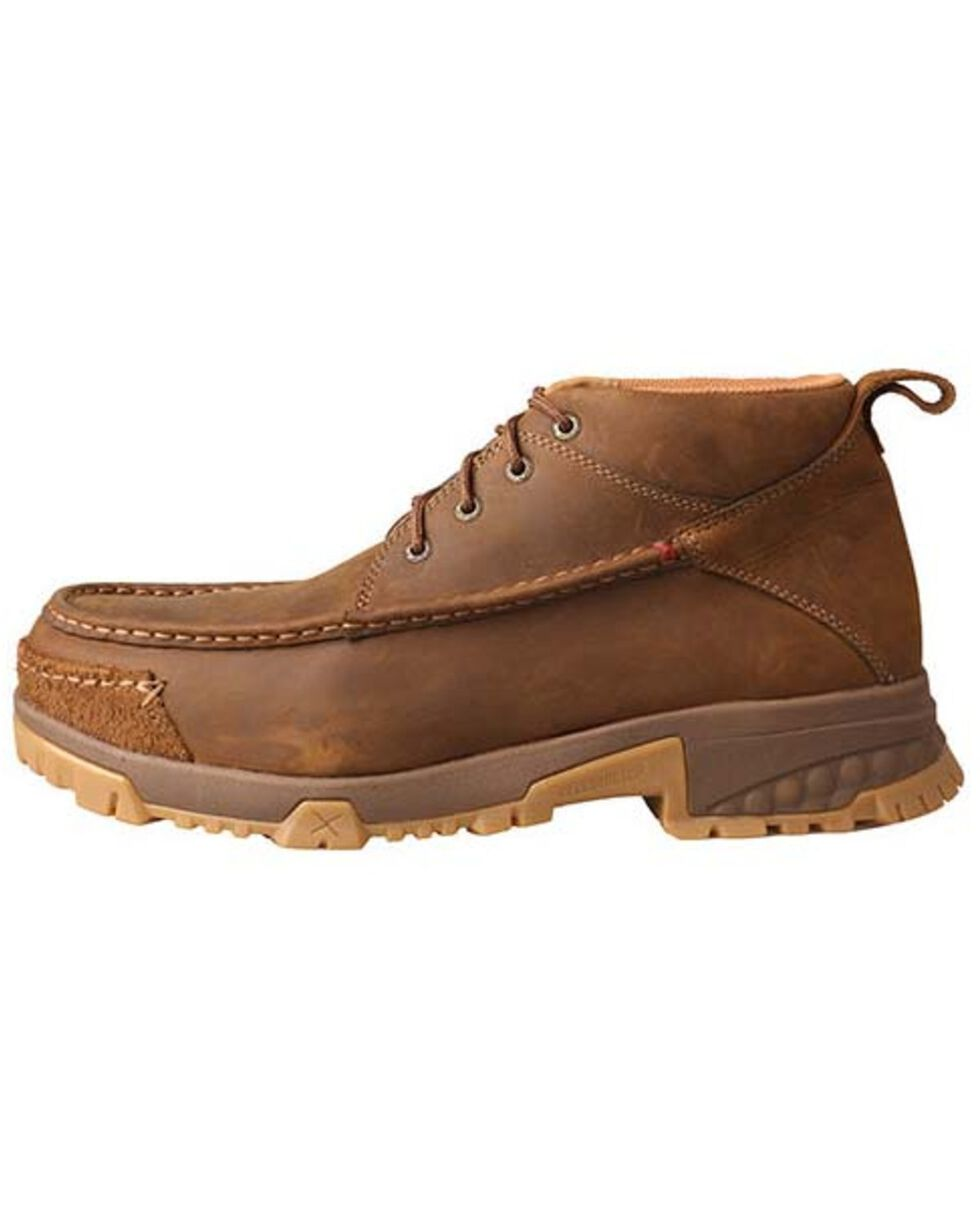 Twisted X Men's CellStretch Work Boots - Composite Toe, Distressed Brown, hi-res