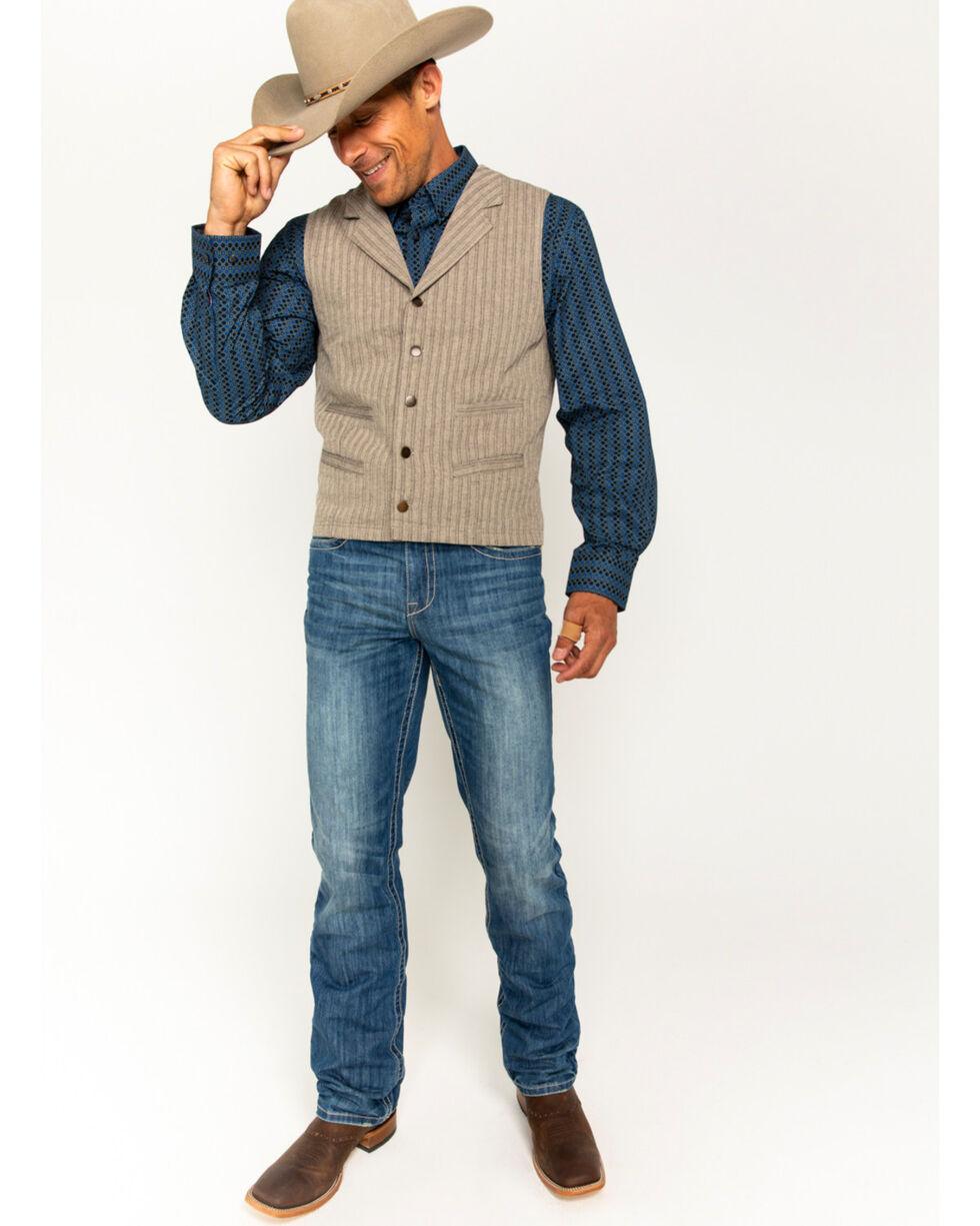 Cody James Men's Herringbone 4-Pocket Vest, Tan, hi-res