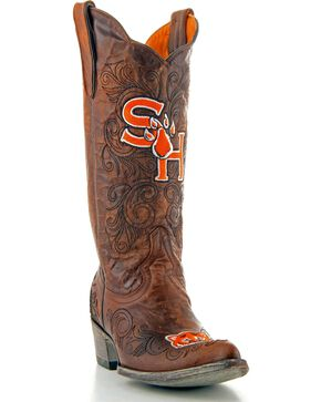 Gameday Sam Houston State Cowgirl Boots - Pointed Toe, Brass, hi-res
