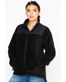 Berne Women's Black Fleece Trek Jacket, Black, hi-res