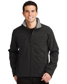 Port Authority Men's Glacier Soft-Shell Work Jacket , Black, hi-res