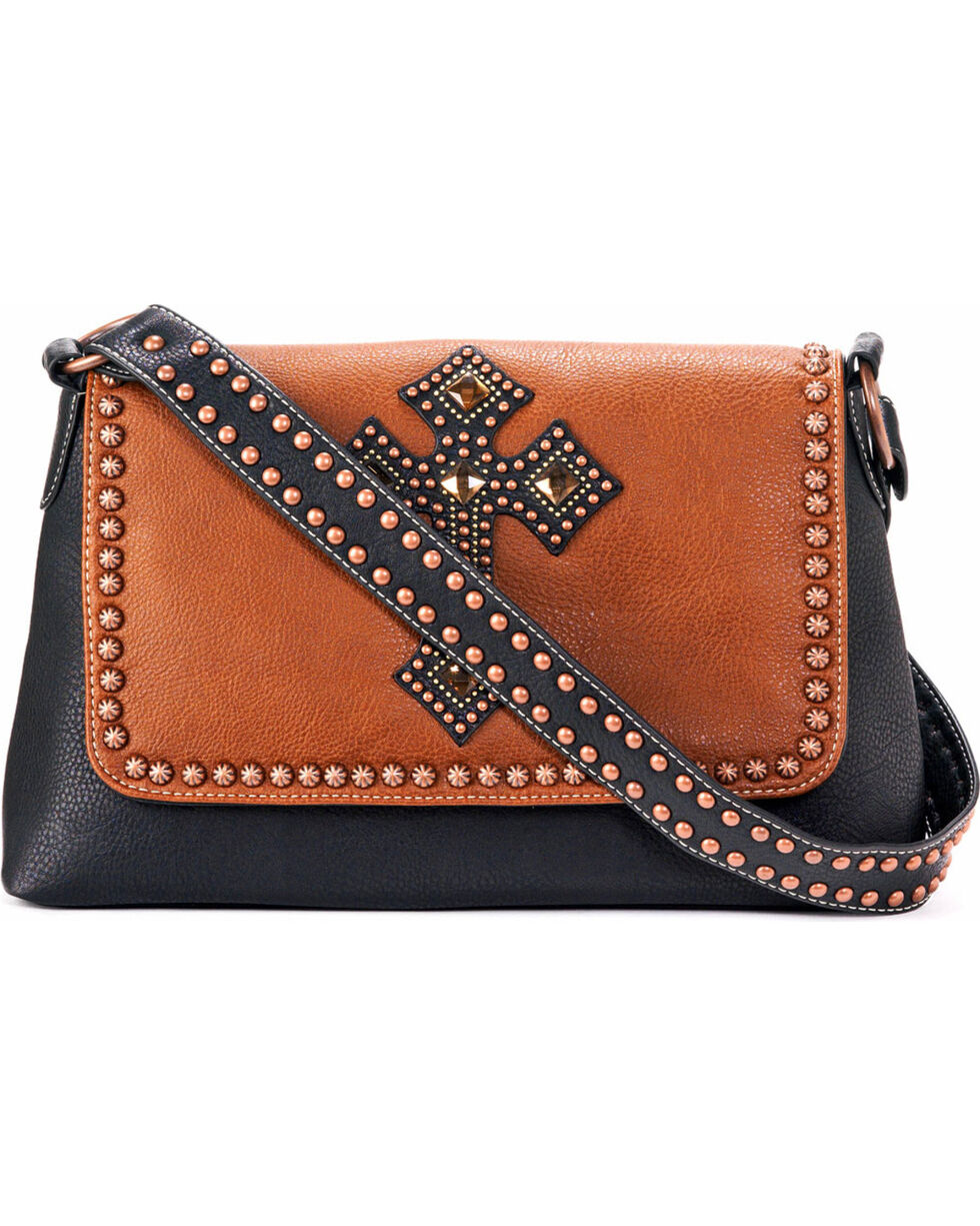 Blazin Roxx Women's Delilah Cross Shoulder Purse , Rust Copper, hi-res