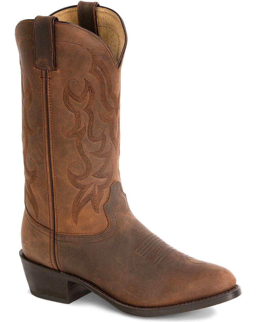 """Durango Men's 12"""" Western Cowboys Boots, Distressed, hi-res"""