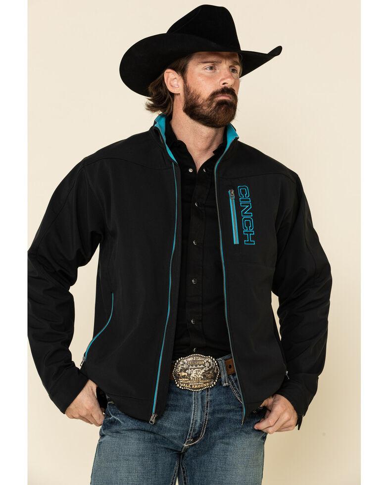 Cinch Men's Black Solid Concealed Carry Bonded Jacket - Big , Black, hi-res
