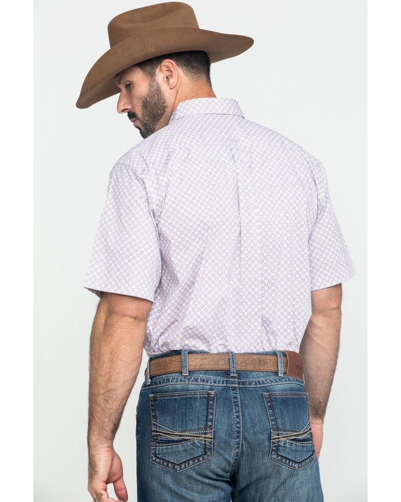 Ariat Men's Fallston Multi Stretch Geo Print Short Sleeve Western Shirt - Big , Multi, hi-res