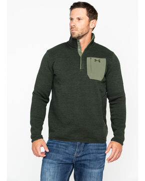 Under Armour Men's Specialist Henley Hunting Long Sleeve Shirt, Green, hi-res