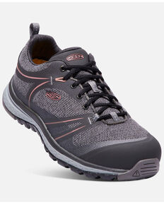 Keen Women's Sedona Work Shoes - Aluminum Toe, Black, hi-res