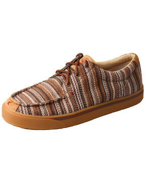 Twisted X Men's Hooey Loper Shoes - Moc Toe, Brown, hi-res