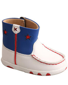 Twisted X Infant Boys' Red, White, & Blue Shoes - Moc Toe, Red/white/blue, hi-res