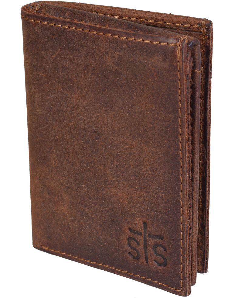 STS Ranchwear Foreman Trifold Wallet, Brown, hi-res