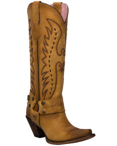 Junk Gypsy by Lane Women's Vagabond Western Boots - Snip Toe, Mustard, hi-res
