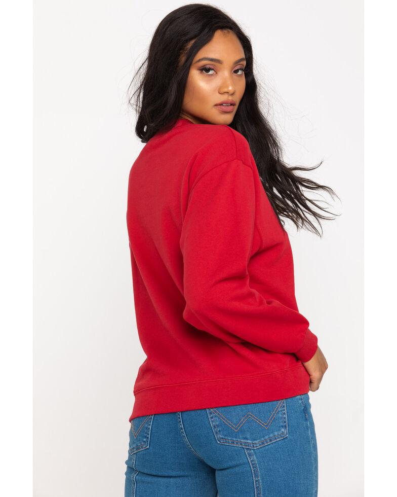 Wrangler Modern Women's Red 80's Logo Sweatshirt , Red, hi-res