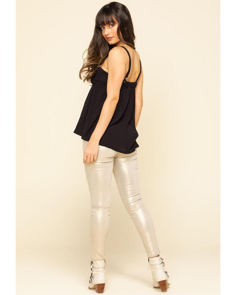 Molly Bracken Women's Coated Skinny Leg Pants, Gold, hi-res
