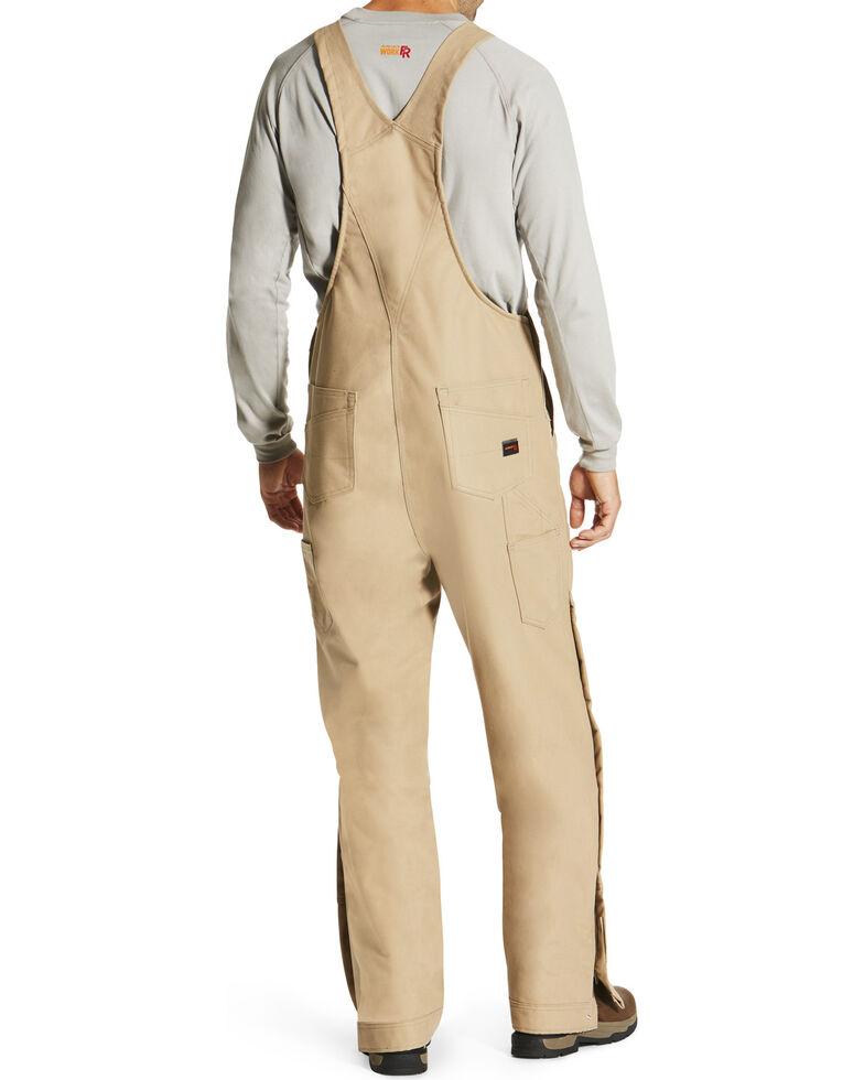 Ariat Men's Beige FR Insulated Bib Overalls - Big, Beige/khaki, hi-res