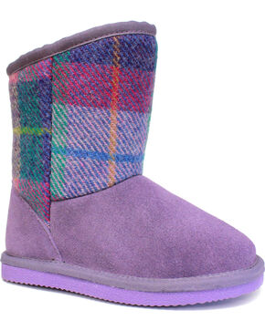 Lamo Girls' Wembley Boots - Round Toe , Purple, hi-res