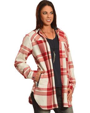 Tasha Polizzi Women's Plaid Highland Country Shirt , Raspberry, hi-res