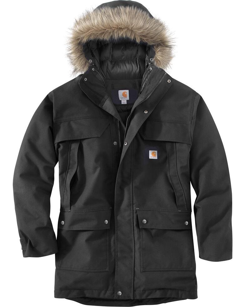 Carhartt Men's Quick Duck Sawtooth Work Parka Jacket, Black, hi-res