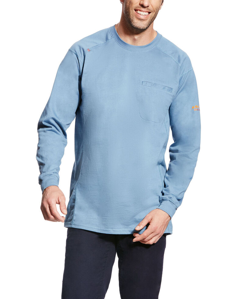 6ceb9907 Ariat Men's FR Air Crew Long Sleeve Work Shirt - Tall