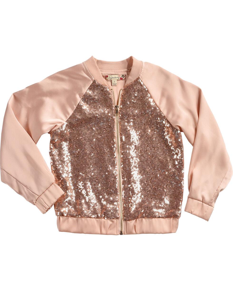 Speechless Girls' Pink Sequin Bomber Jacket , Pink, hi-res
