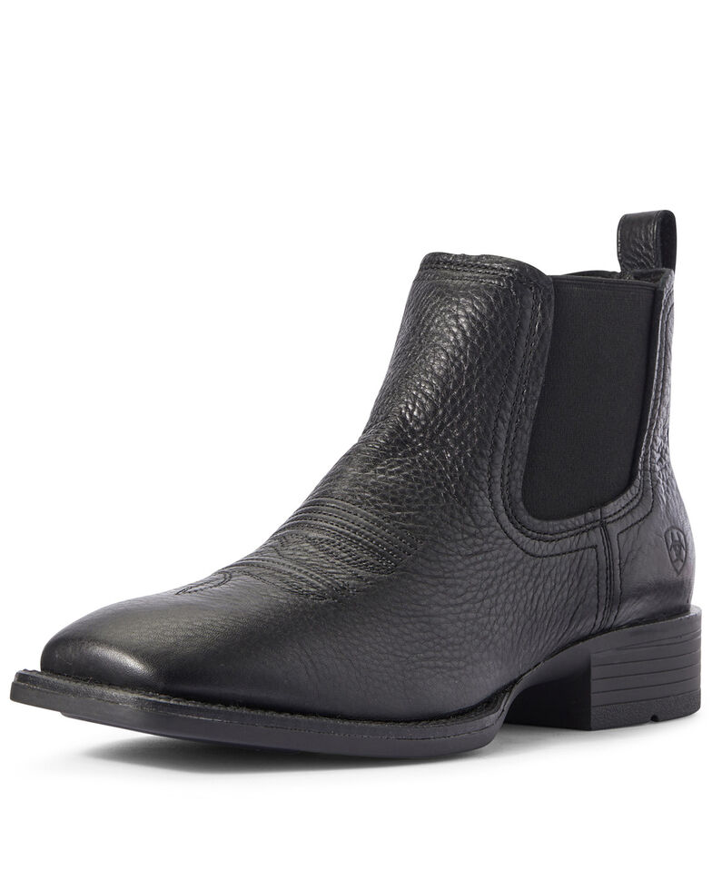Ariat Men's Booker Ultra Chukka Boots - Square Toe, Black, hi-res