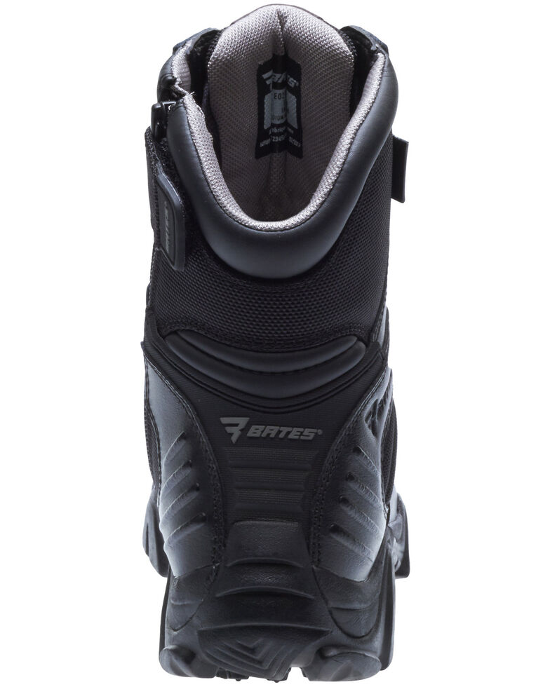 Bates Women's GX-8 Side Zip Work Boots - Soft Toe, Black, hi-res