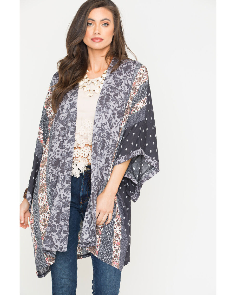 Sage The Label Women's Joscelin Kimono , Purple, hi-res