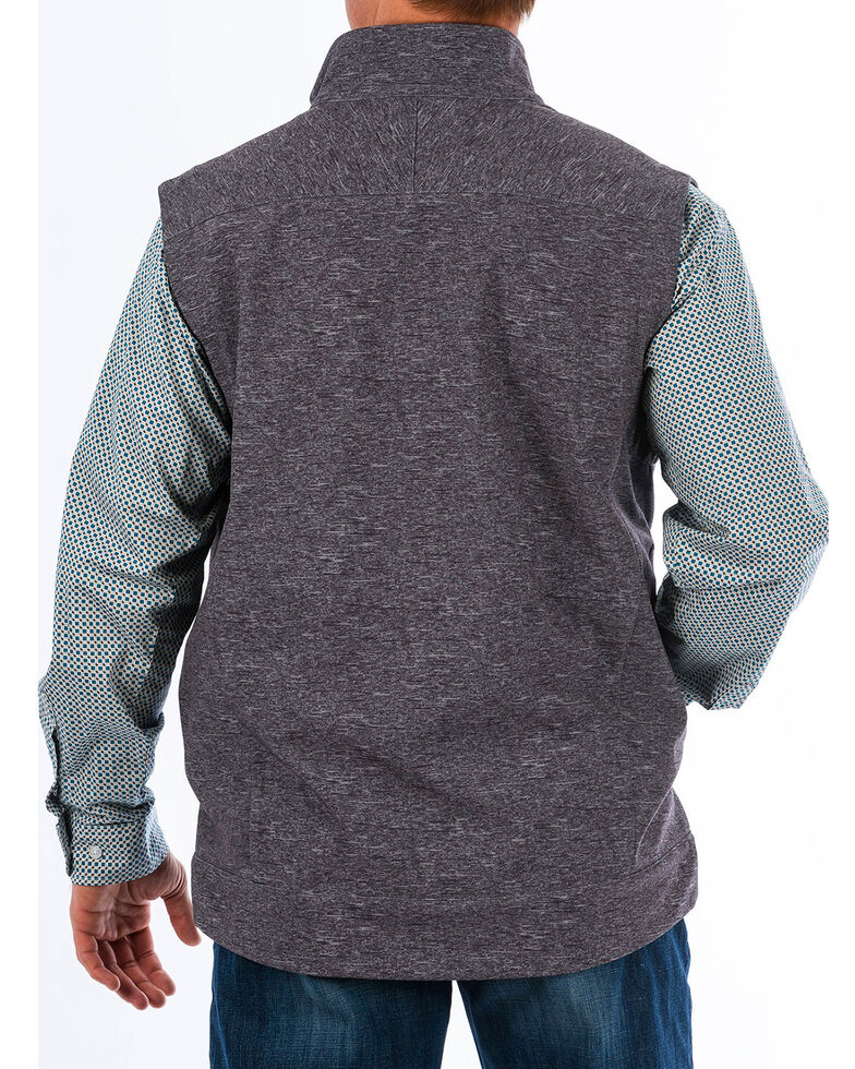 Cinch Men's Concealed Carry Printed Bonded Vest, Charcoal, hi-res