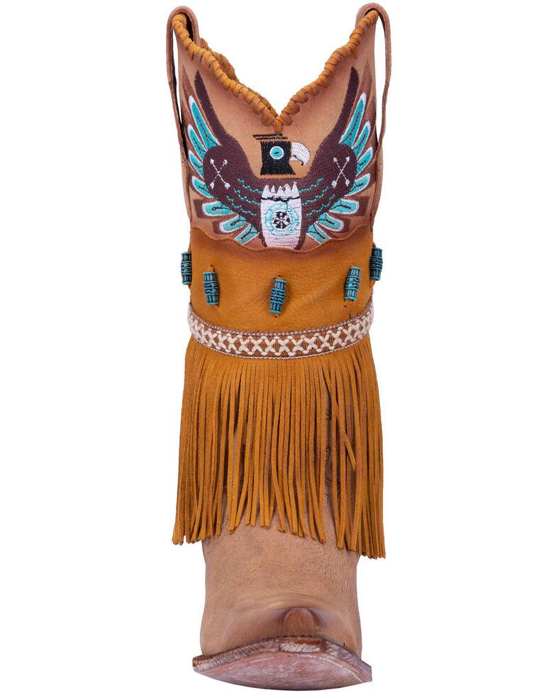 Dan Post Women's T-Bird Western Boots - Snip Toe, Camel, hi-res