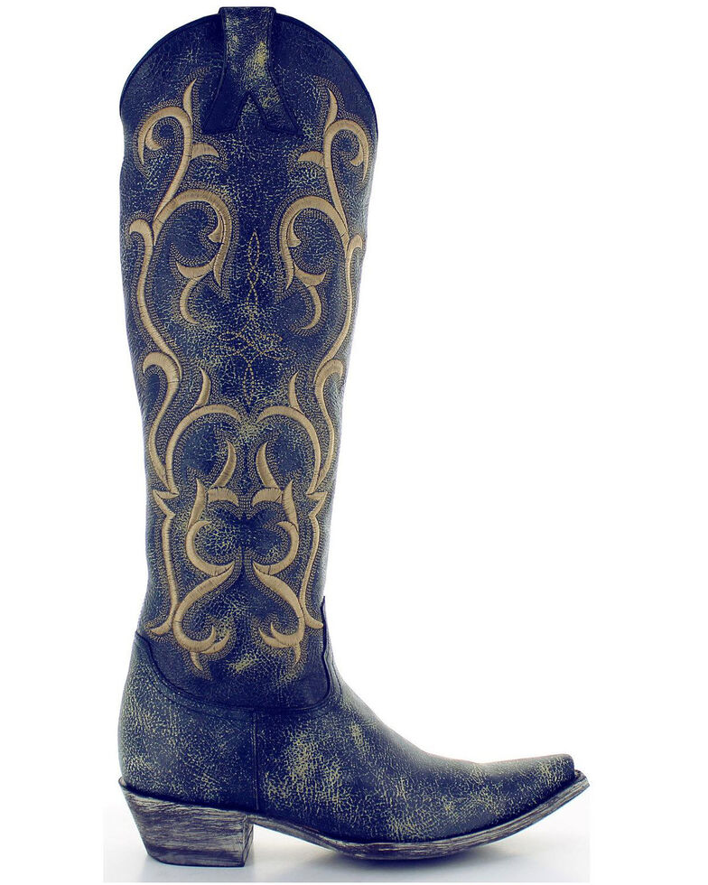 a9c39f464a1 Old Gringo Women's Blue Dolly Mayra Tall Boots - Snip Toe | Boot Barn