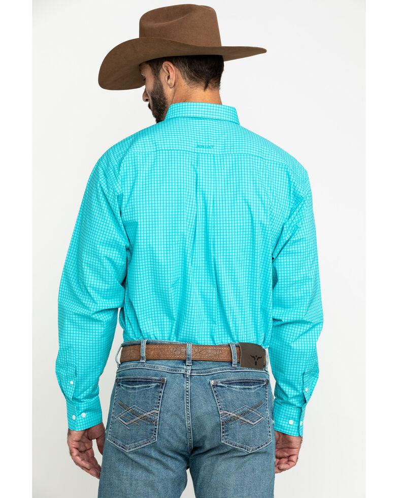 Ariat Men's Kernersville Plaid Long Sleeve Western Shirt , Blue, hi-res