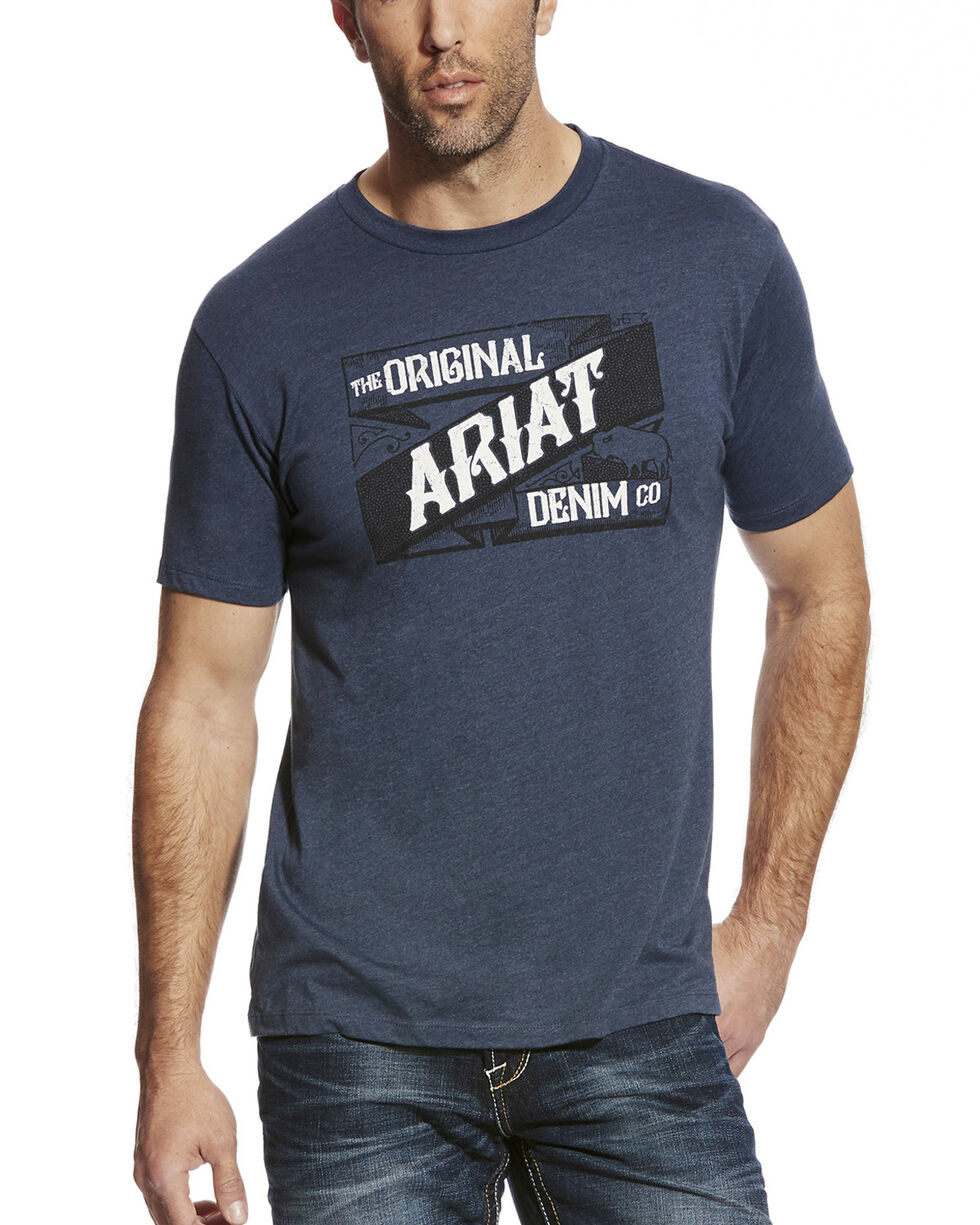 Ariat Men's Warp & Weft Graphic Tee, Navy, hi-res