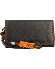 Blazin Roxx Women's Black Tegan Clutch Wallet , Black, hi-res