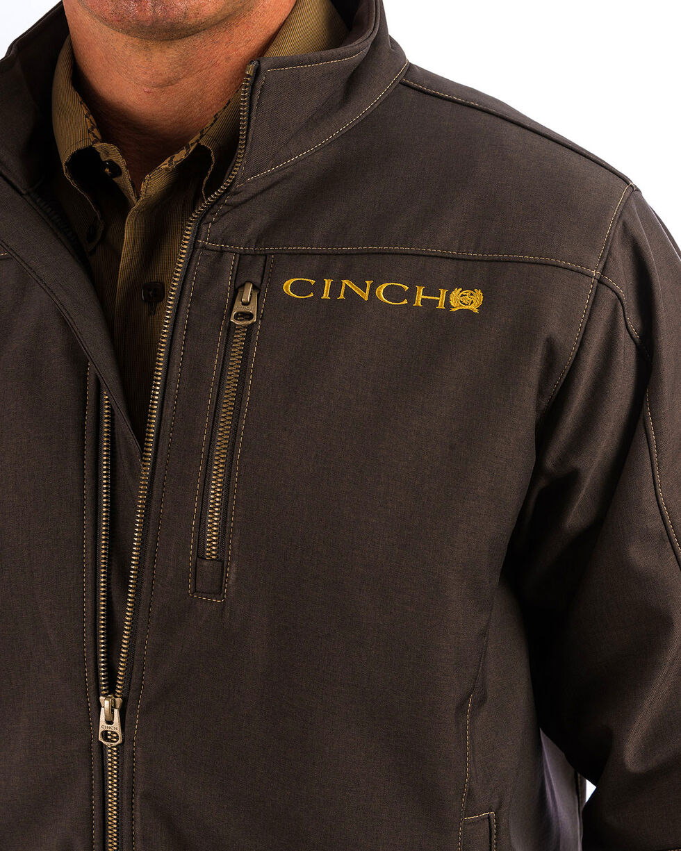 Cinch Men's Solid Brown Bonded Jacket, Brown, hi-res