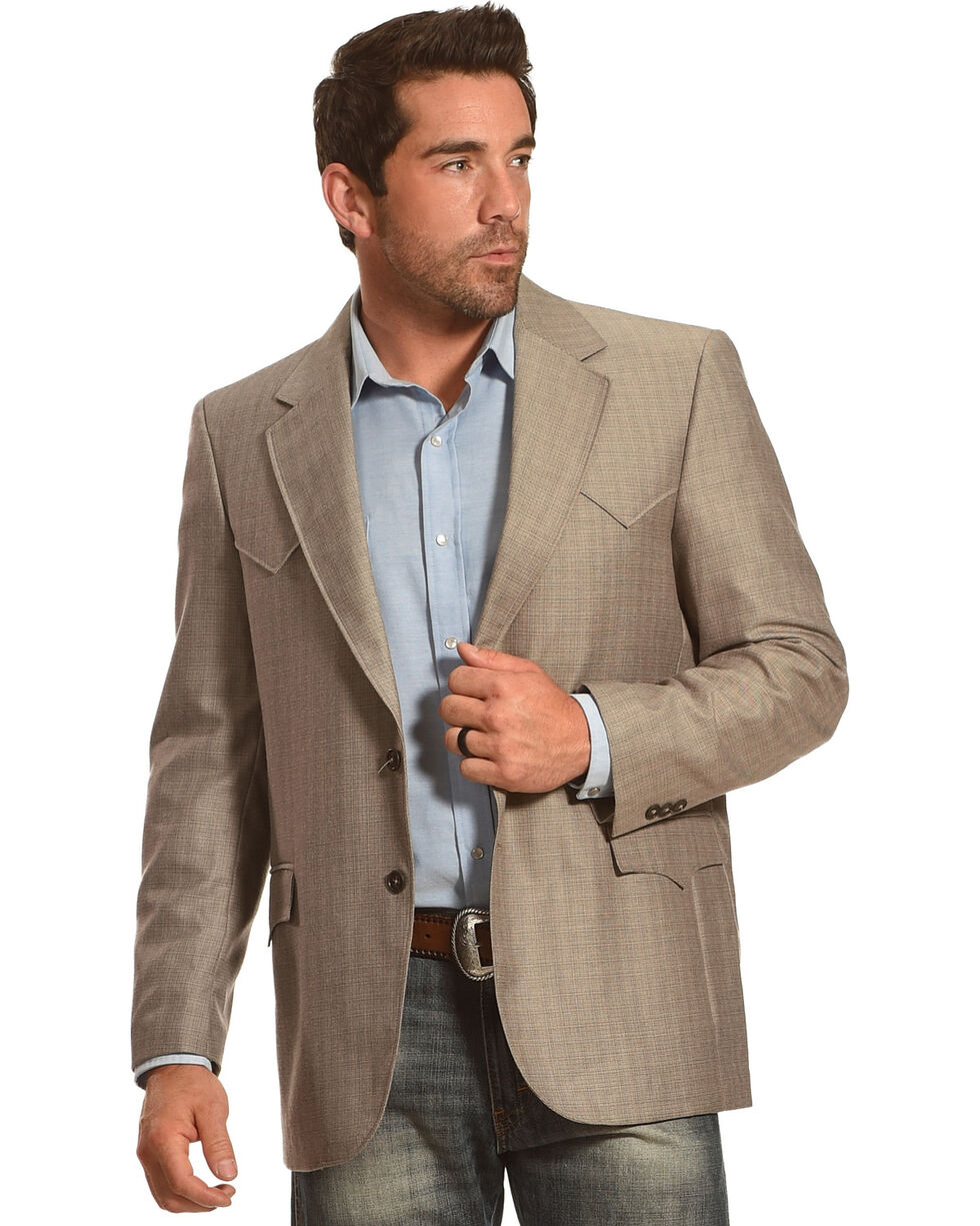Circle S Men's Houston Sport Coat - 40 Long, Brown, hi-res