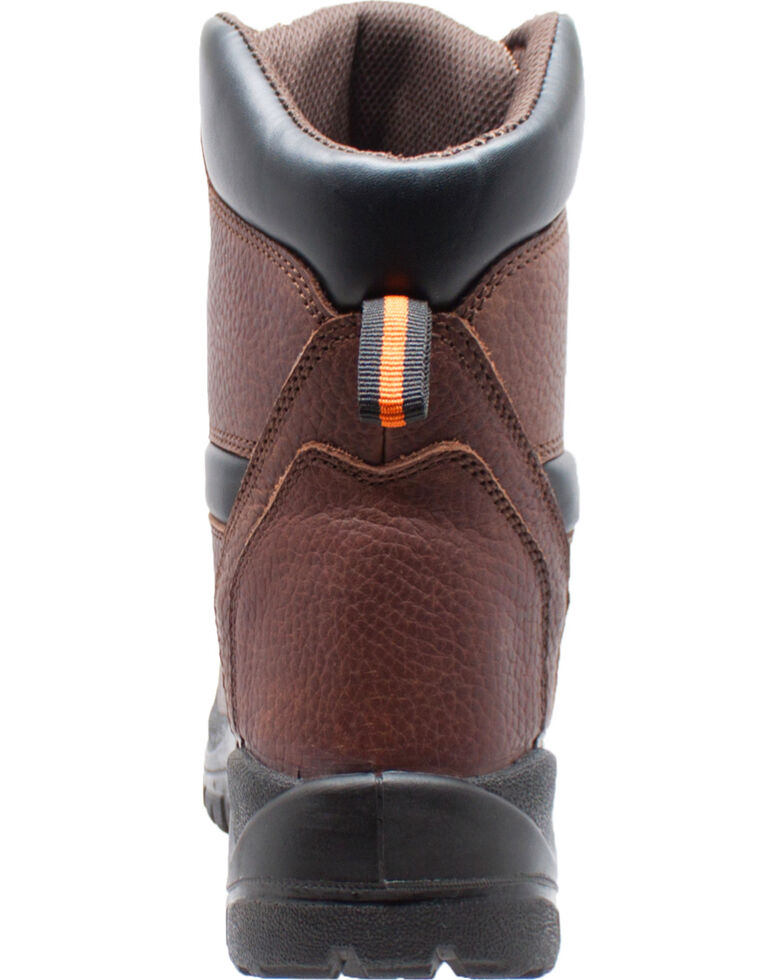 "Ad Tec Men's 6"" Tumbled Leather Comfort Work Boots - Soft Toe, Dark Brown, hi-res"