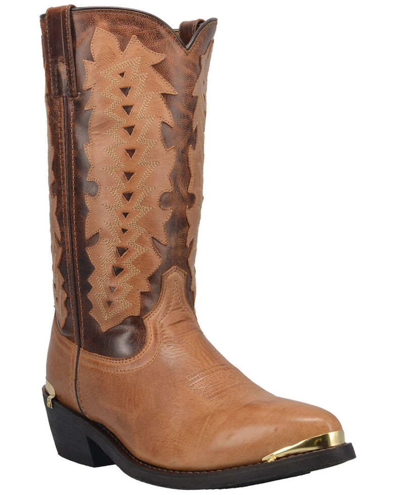 Laredo Men's Legion Western Boots - Round Toe, Tan, hi-res