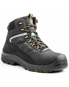 "Terra Men's Black 6"" Findlay Shoe - Round Toe, Black, hi-res"