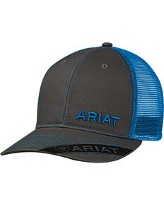 Ariat Men s Grey with Pink Offset Baseball Cap 2986388a151