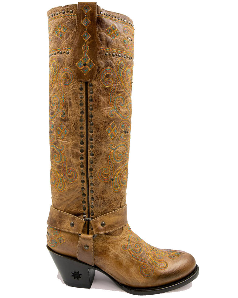 Black Star Women's Wimberley Western Boots - Round Toe, Brown, hi-res