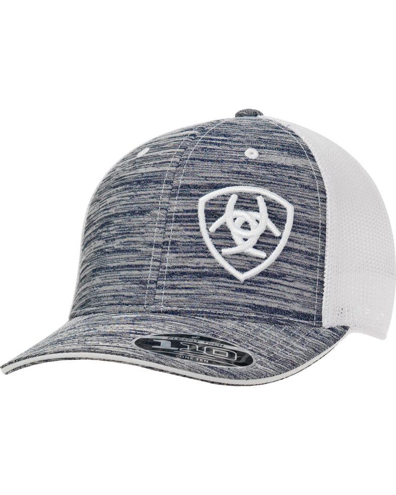 Ariat Men's Logo Embroidered Ball Cap, Grey, hi-res