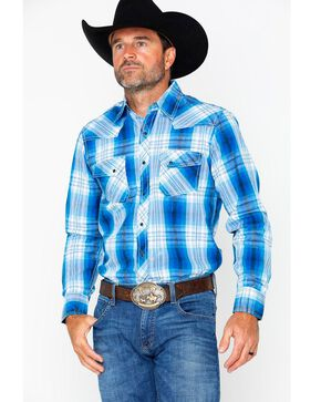 Ely Cattleman Men's 1878 Young Men's Plaid Shirt , Blue, hi-res