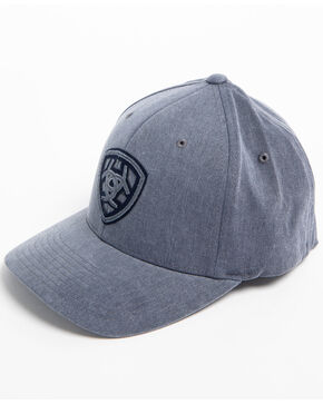 Ariat Men's Grey Distressed Signature Logo Cap, Grey, hi-res