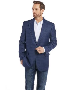 Circle S Men's Blue Plaid Sport Coat , Blue, hi-res