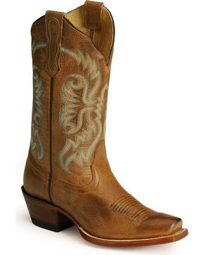 Nocona Women's Old West Western Boots, Tan, hi-res