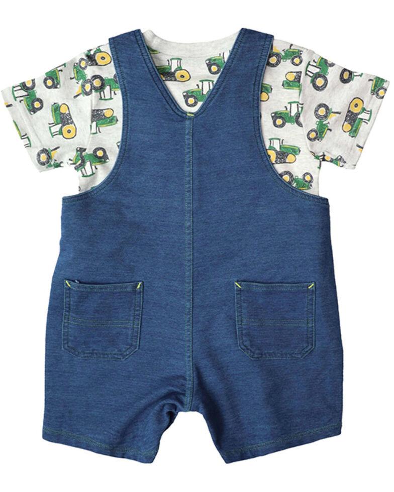 John Deere Infant Boys' Denim Tractor Shortall Set , Indigo, hi-res