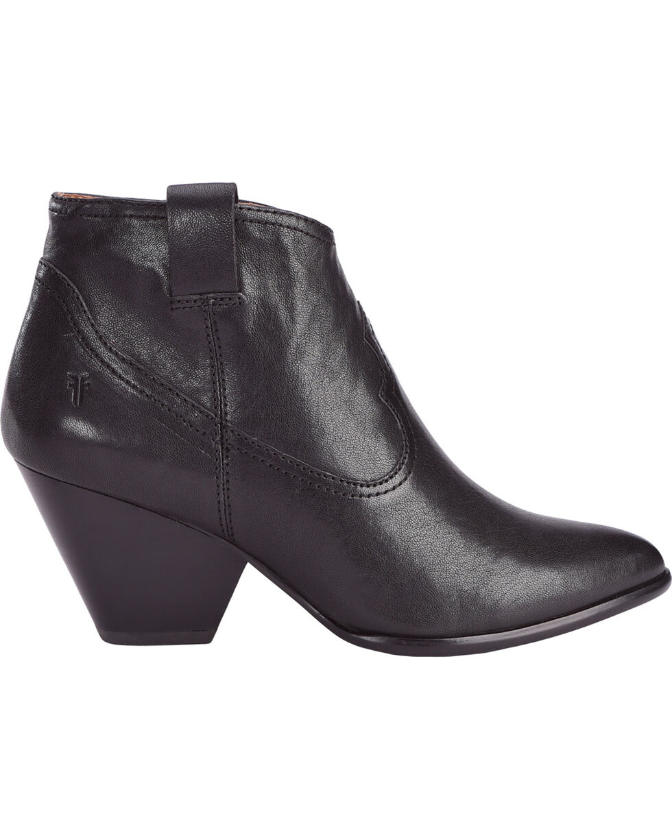 Frye Women's Black Reina Leather Booties - Pointed Toe , , hi-res