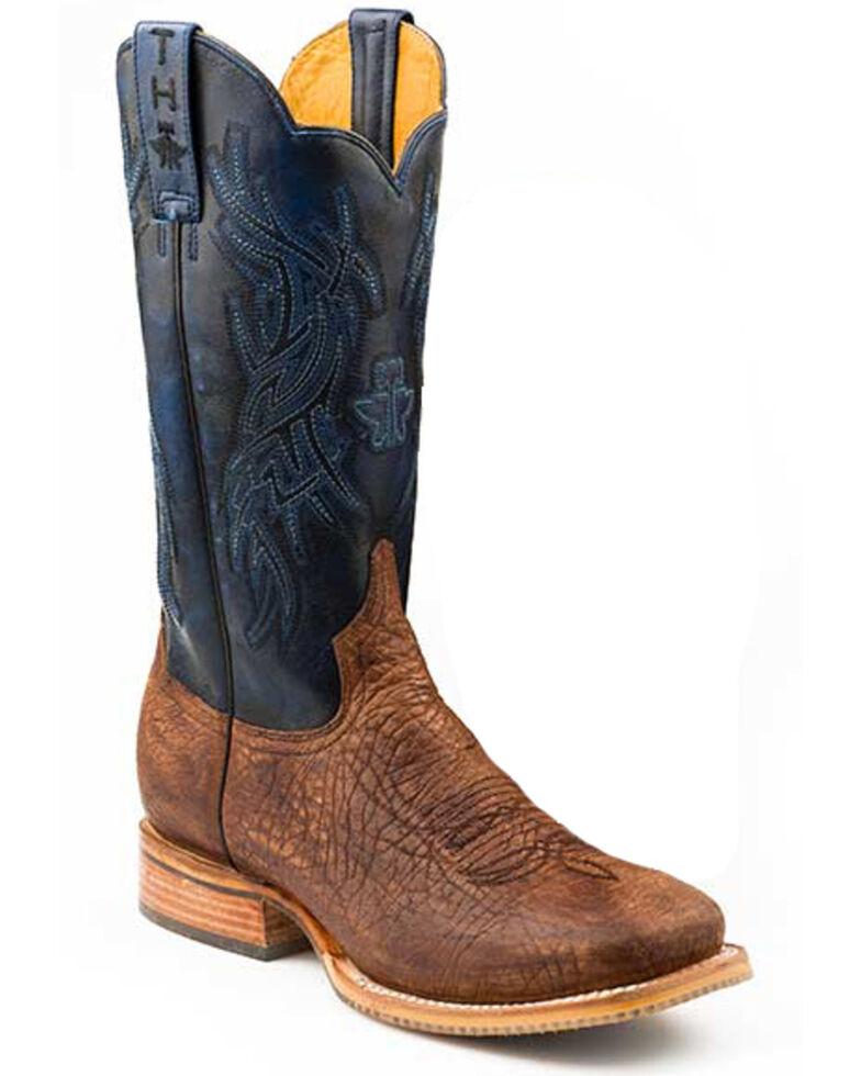 Tin Haul Men's Howdy & Rowdy Western Boots - Square Toe, Tan, hi-res