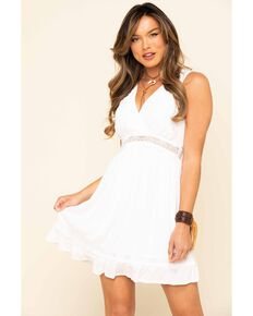 Band of Gypsies Women's Ivory Sicily Dress, Ivory, hi-res