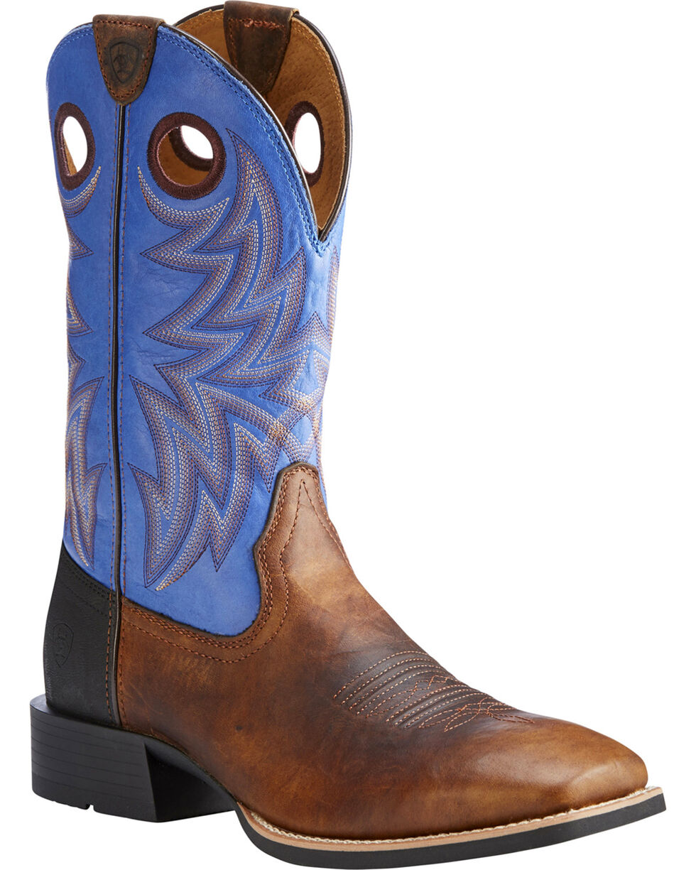 Ariat Men's Brown Heritage Cowhorse Western Boots - Square Toe , Brown, hi-res